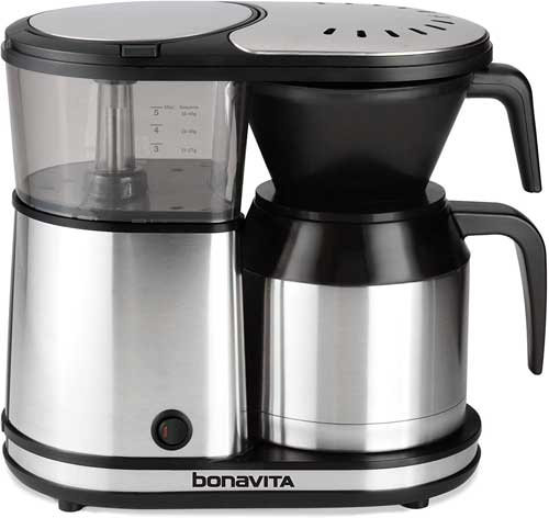 Bonavita 5-Cup One-Touch Coffee Maker Featuring Therma